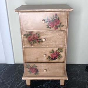 Cottagecore tabletop chest of drawers box